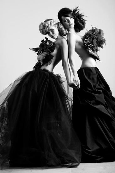 Deirdre, Monique, vergara, haute couture, topless, implied, fashion, elegance, strong, emotive